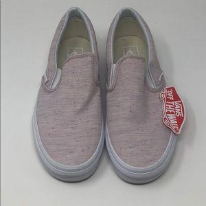 NIB VANS Slip-Ons Pink Speckled Womens Size: 10